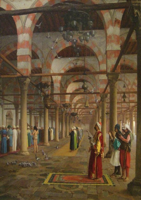 Gerome, Jean Leon: Prayer in the Mosque. Fine Art Print/Poster. Sizes: A4/A3/A2/A1 (002841)